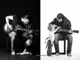 Padre e figlio che suonano insieme